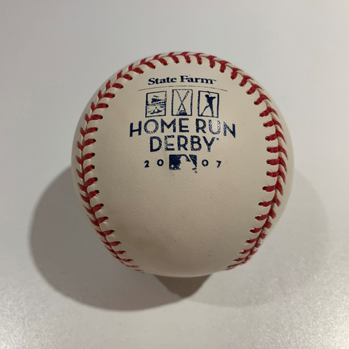 Photo of 2007 Home Run Derby - Game Used Baseball - Batter: Alex Rios -  Round 1 Out #9