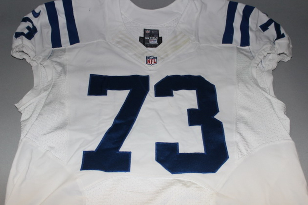 NFL INTERNATIONAL SERIES - JOE HAGUE GAME WORN COLTS JERSEY (OCTOBER 2, 2016)