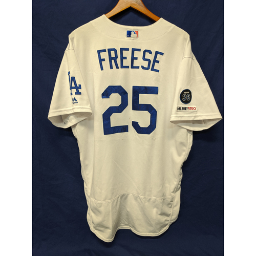 Photo of Los Angeles Dodgers David Freese Game-Used Home Jersey - 9/3/19 - Pinch Hit HR