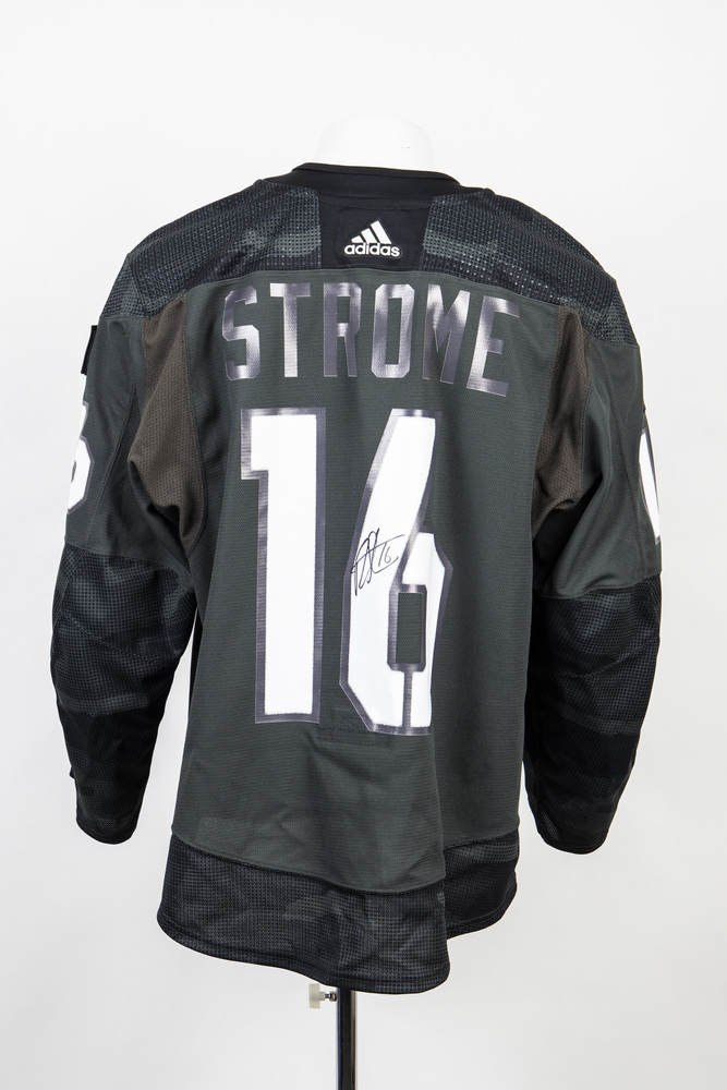 Veterans Night warm up jersey worn and signed by #16 Ryan Strome