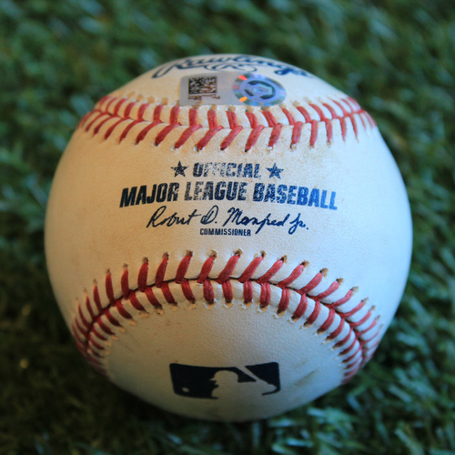 Photo of Game-Used Baseball: Marcus Semien 743rd Career Hit (8/27/19 - OAK @ KC)