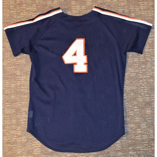 Photo of Detroit Tigers #4 Blue Batting Practice Jersey (NOT MLB AUTHENTICATED)