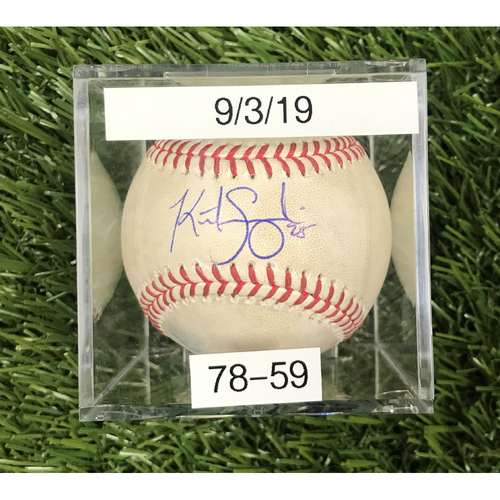 Win #78: 9/3/2019 Game-Used Baseball - Autographed by Kurt Suzuki