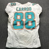 Crucial Catch - Dolphins Leonte Carroo Game Used Jersey Size 38 (10/21/2018)