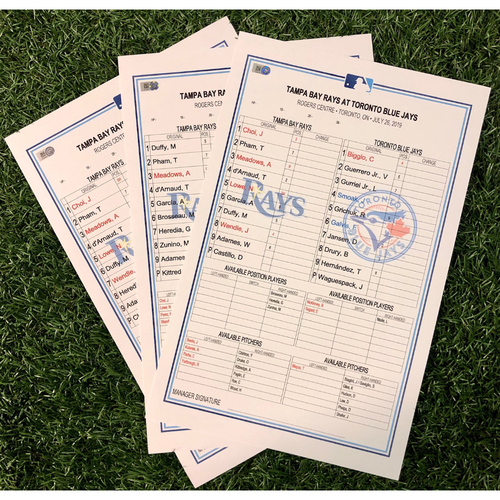 Photo of Replica Lineup Card Package