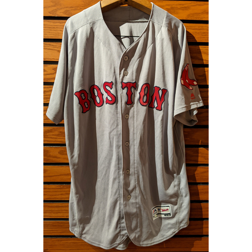 Photo of Boston Red Sox Bat Boy Team Issued Road Gray Jersey