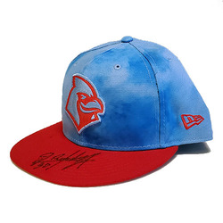 Photo of Randy Arozarena Autographed Game-Worn Memphis Redbirds 2019Father's Day Hat