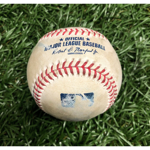 Photo of Game Used Baseball: Yairo Munoz foul ball off Josh Fleming (Rookie Season) - September 10, 2020 v BOS