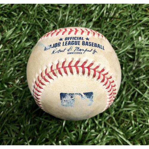Game Used Baseball: Yairo Munoz foul ball off Josh Fleming (Rookie Season) - September 10, 2020 v BOS