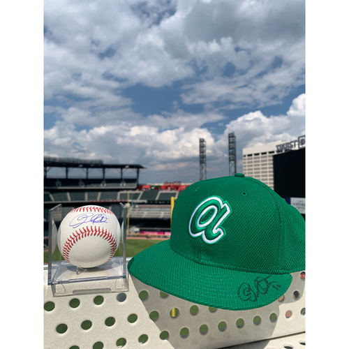 Photo of Charlie Morton MLB Authenticated Autographed St. Patties Day Style Hat and Baseball, Combo