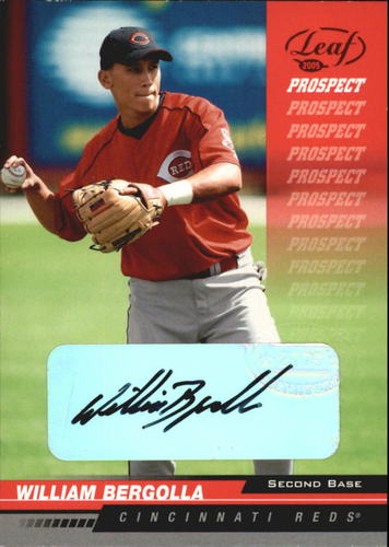 Photo of 2005 Leaf Autographs Red #249 William Bergolla PROS/100
