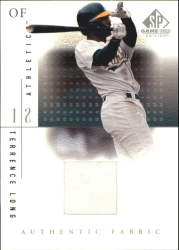 Photo of 2001 SP Game Used Edition Authentic Fabric #TL Terrence Long