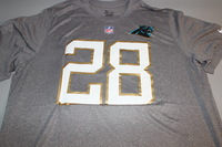 NFL - PANTHERS JONATHAN STEWART 2016 PRO BOWL LIGHT GRAY T-SHIRT WITH NAME AND NUMBER - SIZE 2XL