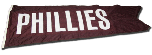 Wrigley Field Collection -- Scoreboard Flag -- Phillies