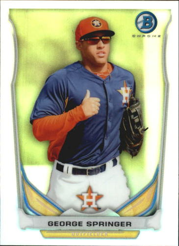 Photo of 2014 Bowman Chrome Bowman Scout Top 5 Mini Refractor George Springer