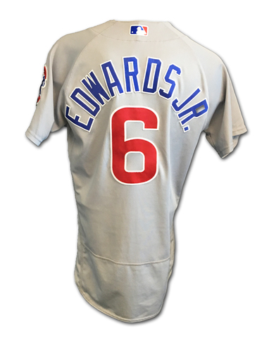 Carl Edwards, Jr. Game-Used Jersey -- Edwards, Jr. 25th Hold of Season -- Cubs Clinch 2017 NL Central Division -- Cubs at Cardinals -- 9/27/17