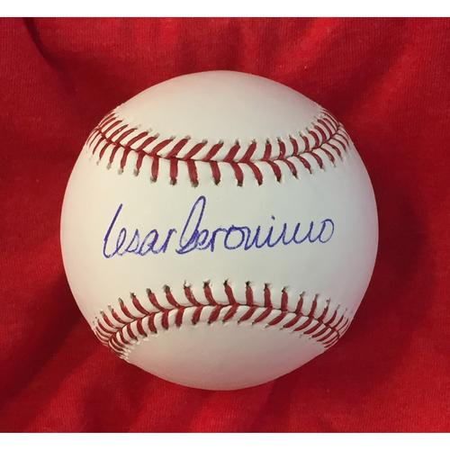 Photo of Cesar Geronimo Autographed Baseball