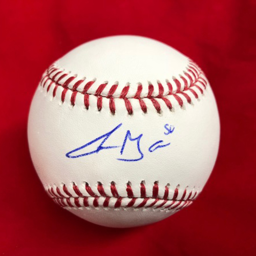 Photo of Amir Garrett -- Autographed Baseball