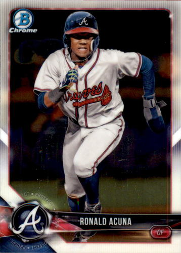 Photo of 2018 Bowman Chrome Prospects #BCP1 Ronald Acuna