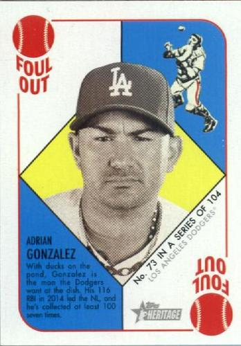 Photo of 2015 Topps Heritage '51 Collection #73 Adrian Gonzalez