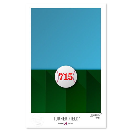 Photo of Turner Field - Collector's Edition Minimalist Art Print by S. Preston #119/350  - Atlanta Braves