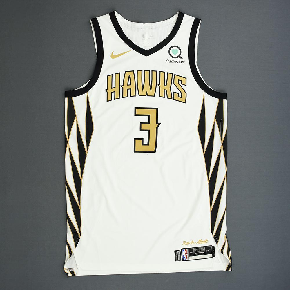 best service ef8c1 6e12d Kevin Huerter - Atlanta Hawks - Game-Worn City Edition ...