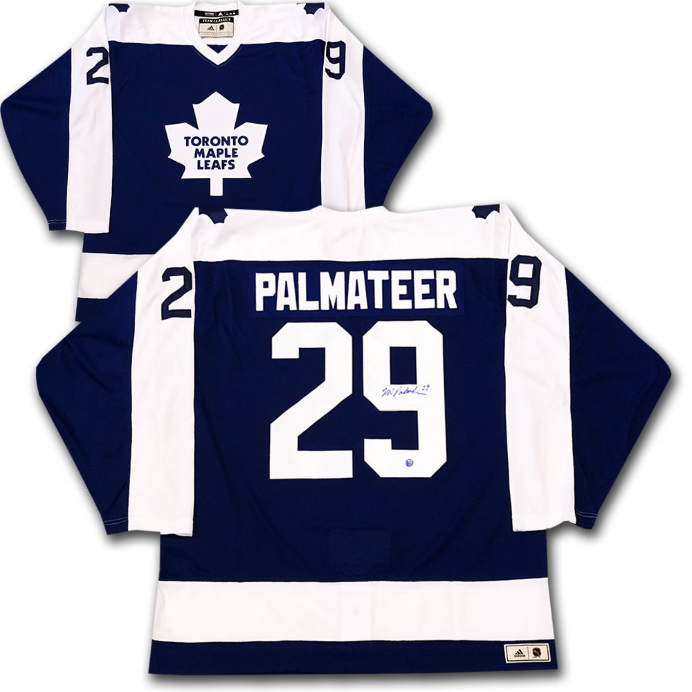 Mike Palmateer Autographed Toronto Maple Leafs adidas Team Classics Authentic Vintage Jersey