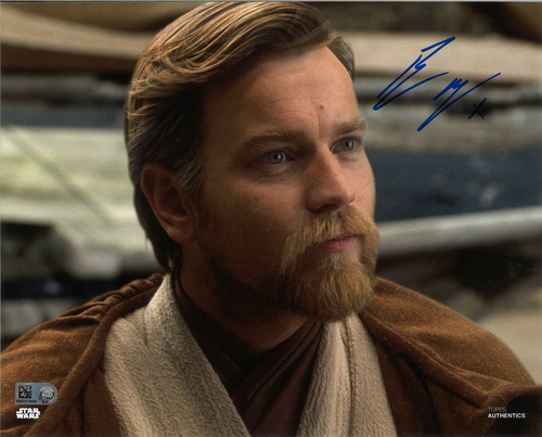 Ewan McGregor As Obi-Wan Kenobi  8X10 AUTOGRPAHED IN 'BLUE' INK PHOTO