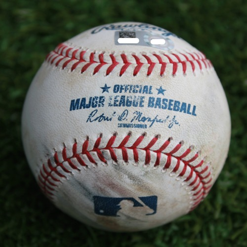 Photo of Game-Used Baseball: Omar Narvaez 187th Career Hit (SEA @ KC - 4/10/19)