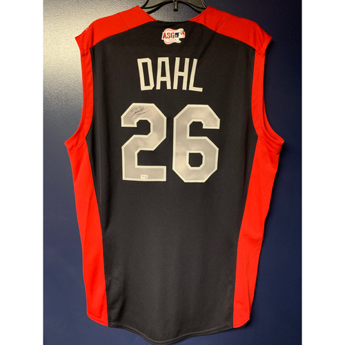 Photo of David Dahl 2019 Major League Baseball Workout Day Autographed Jersey