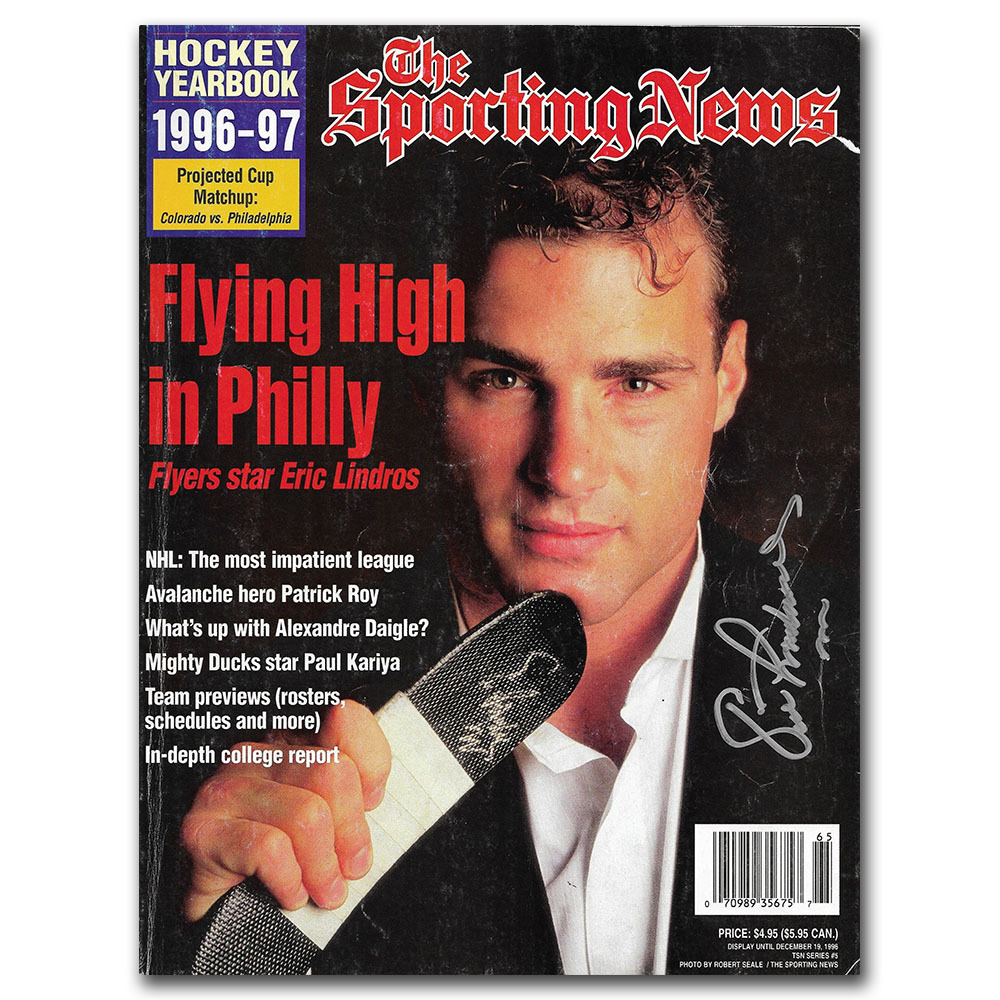 Eric Lindros Autographed THE SPORTING NEWS 1996-97 Yearbook