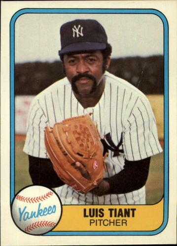 Photo of 1981 Fleer #82 Luis Tiant