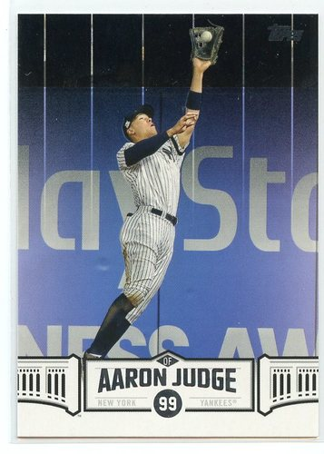 Photo of 2018 Topps Aaron Judge Highlights Blue #AJ27 Aaron Judge