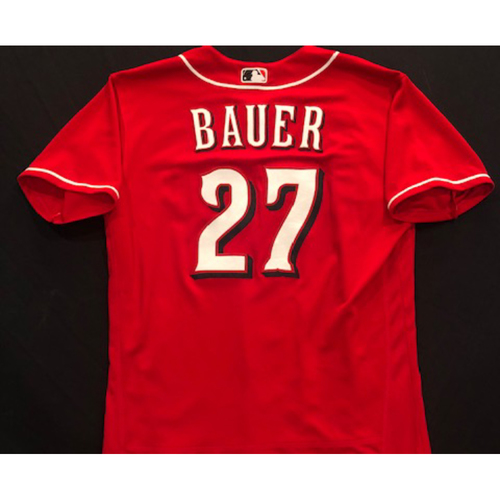 Photo of Trevor Bauer -- 2020 Spring Training Jersey -- Team-Issued -- Size 46