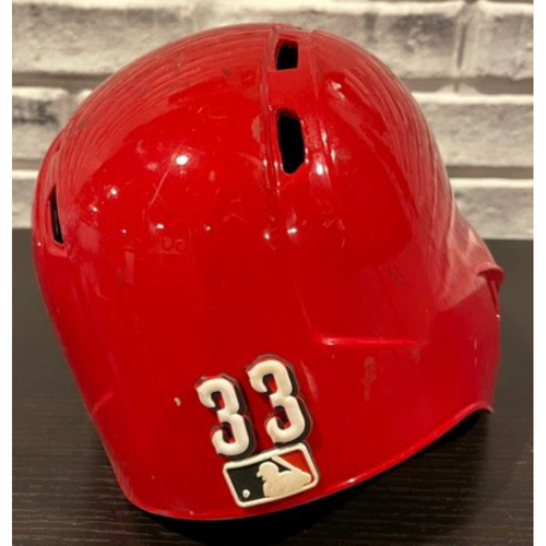 Photo of Jesse Winker -- Team-Issued Helmet -- Right Ear Flap -- Size 7 3/8