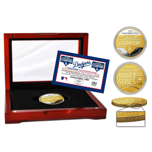 Photo of Los Angeles Dodgers 2020 World Series Champions Two-Tone Mint Coin