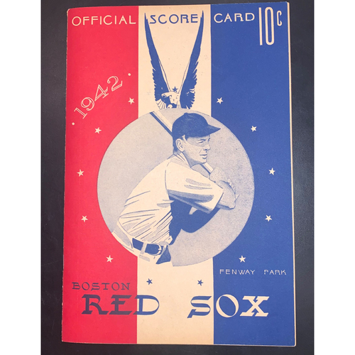 Photo of  Boston Red Sox June 13, 1942 Official Scorecard