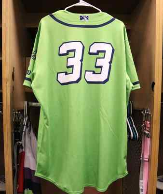 Stockton Ports Sam Romero Asparagus jersey, #33, Size 48