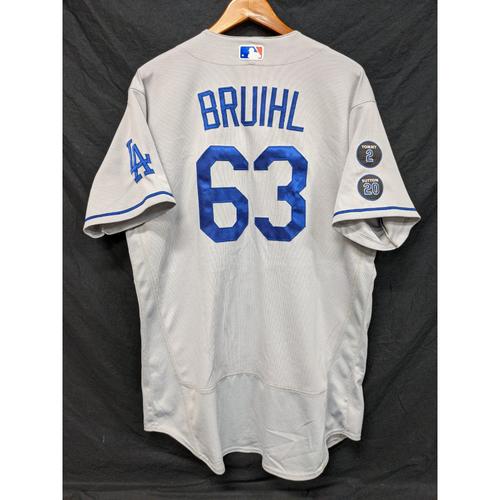 Photo of Justin Bruihl Game-Used Jersey - Last Road Game of 2021 Regular Season - 9/26 at ARI