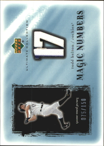 Photo of 2001 Ultimate Collection Magic Numbers Game Jersey #MNTH Todd Helton