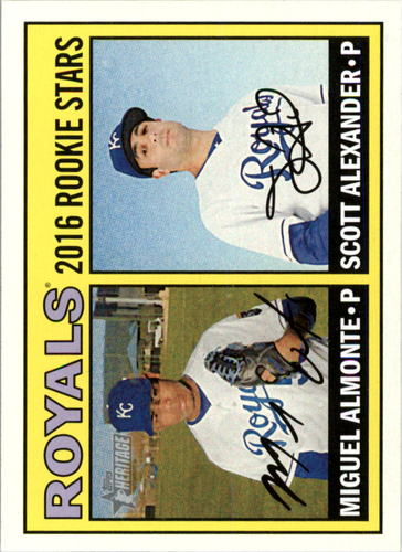 Photo of 2016 Topps Heritage #167 Scott Alexander RC/Miguel Almonte RC