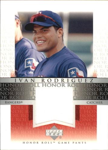 Photo of 2002 Upper Deck Honor Roll Game Jersey #JIR1 Ivan Rodriguez