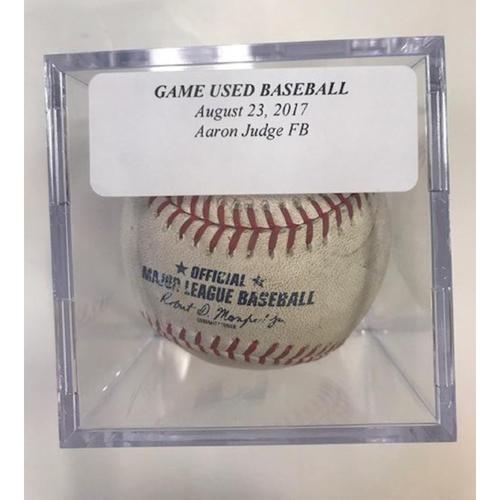 Game-Used Baseball: Aaron Judge Foul Ball