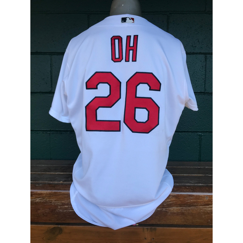 Photo of Cardinals Authentics: Seung-hwan Oh Game Worn Home White Jersey