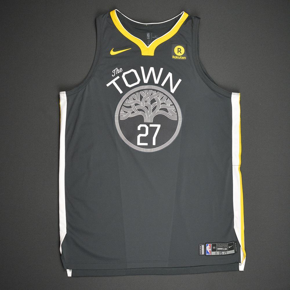 Zaza Pachulia - Golden State Warriors - Statement Game-Worn 1st Half Jersey - 2017-18 Season