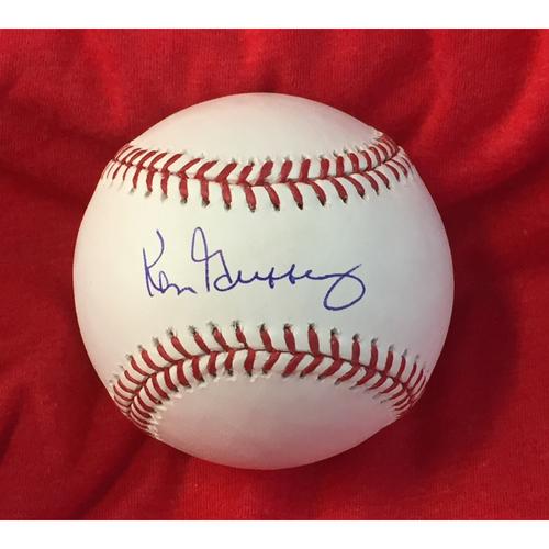 Photo of Ken Griffey Autographed Baseball