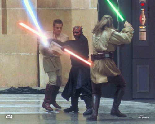 Qui-Gon Jinn, Darth Maul and Obi-Wan Kenobi