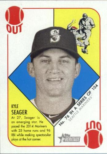 Photo of 2015 Topps Heritage '51 Collection #76 Kyle Seager