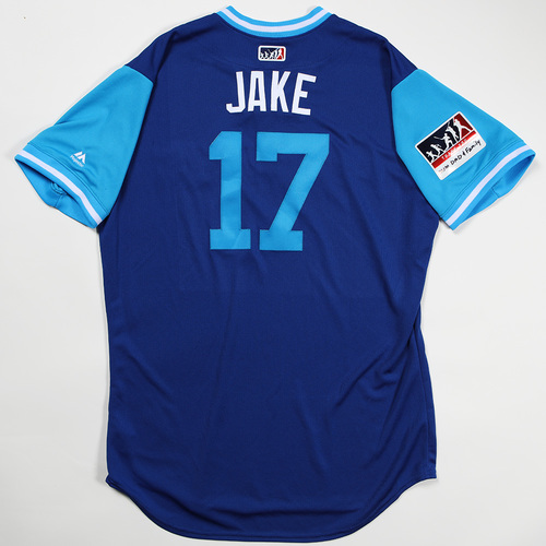 "Photo of Brook ""Jake"" Jacoby Toronto Blue Jays Team Issued Jersey 2018 Players' Weekend Jersey"