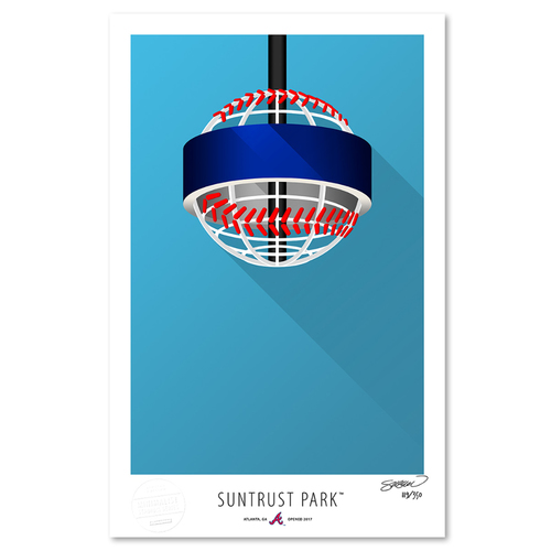Photo of SunTrust Park - Collector's Edition Minimalist Art Print by S. Preston #119/350  - Atlanta Braves